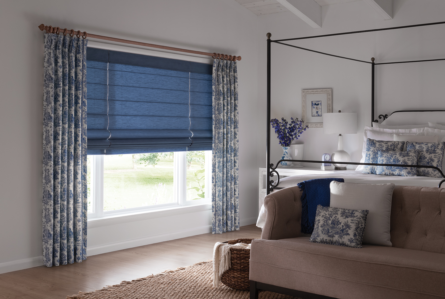 Roman Shades for Bedroom - Custom Window Treatments | Nashville, TN