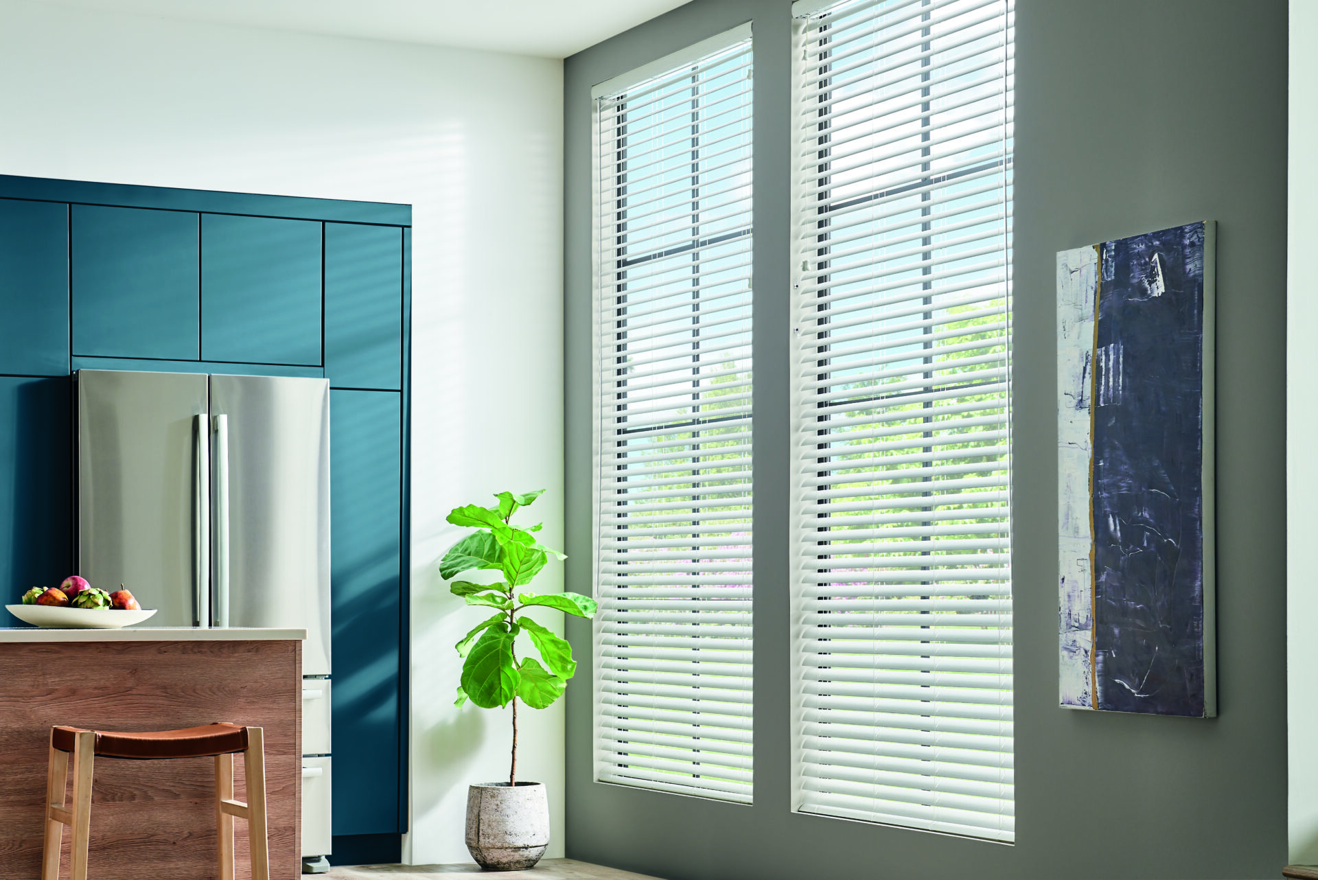 Mini Blinds that can also be custom blinds for the perfect custom window treatment