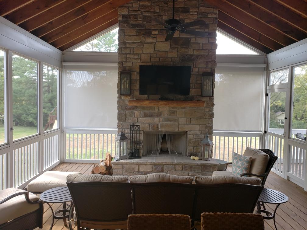 Patio Shades and Roman Shades - Interior Window Plantation Shutters - Custom, Motorized Window Treatments, Blind Repair, Custom Blinds | Nashville, TN