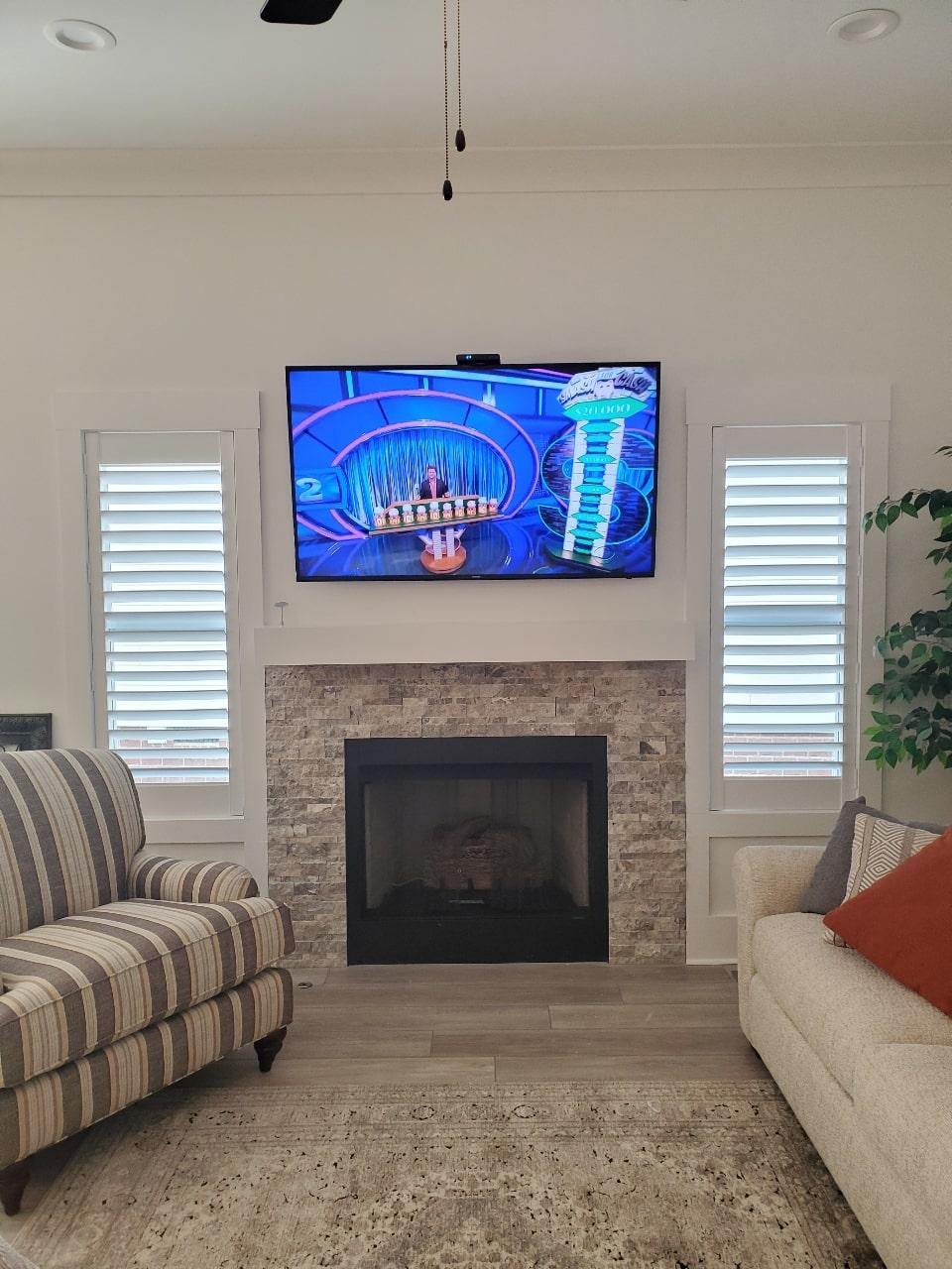 Living Room Interior Window Shutters / Plantation Shutters Nashville TN