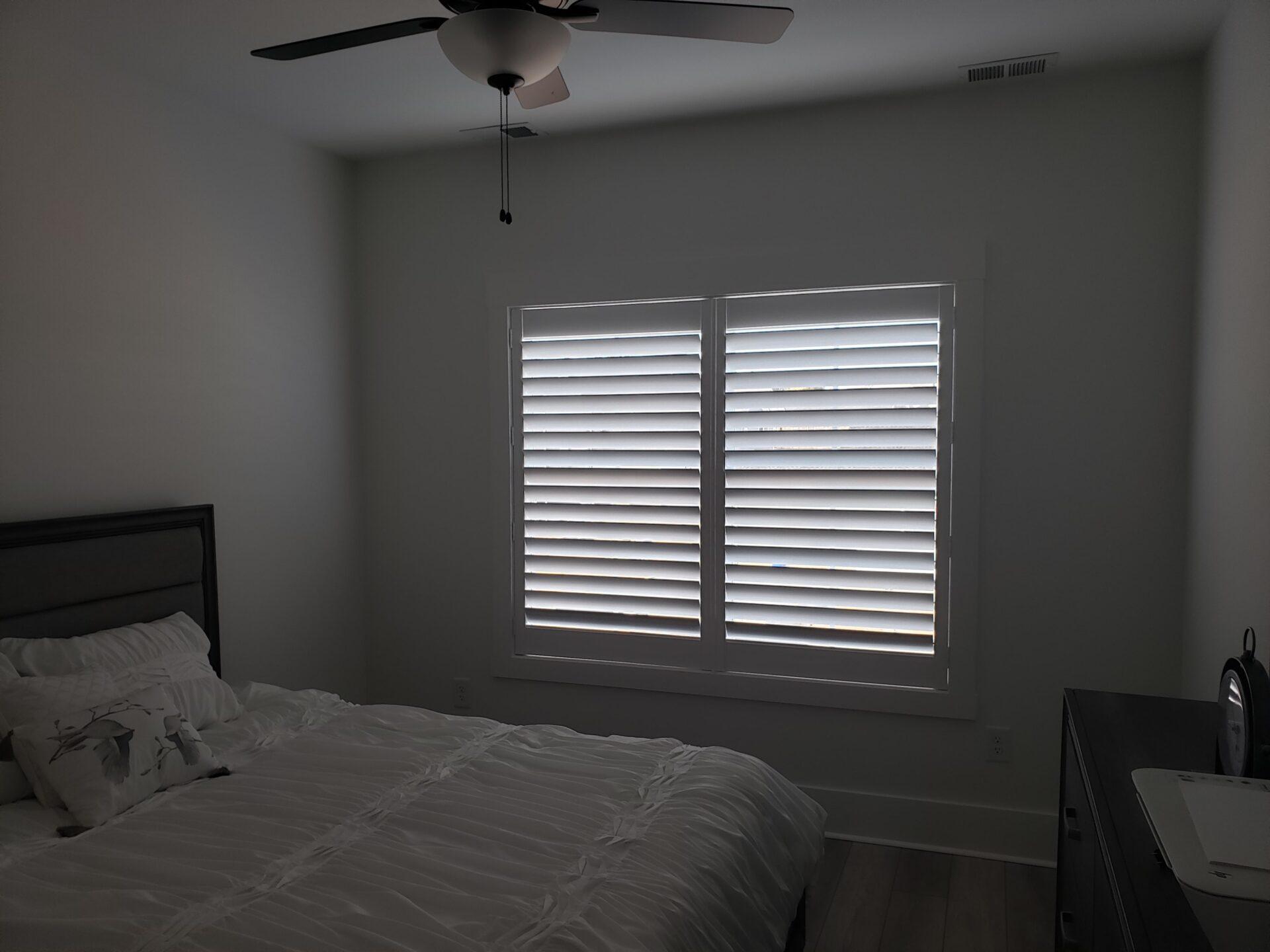 Bedroom Interior Window Shutters / Plantation Shutters Nashville TN